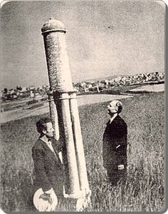 1930'larda Okmeydanı'nda bulunan nişan taşı, menzil taşlarından bir tanesi.