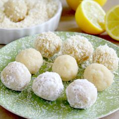 Raw Vegan Lemon Meltaway Balls with no eggs, butter, processed sugar or flour and they are gluten-free too!