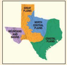 Map Of Texas 4 Regions.4th Grade Four Texas Regions Research Social Studies Texas