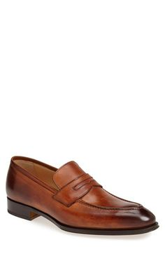 Men's Gallo Bianco Leather Penny Loafer