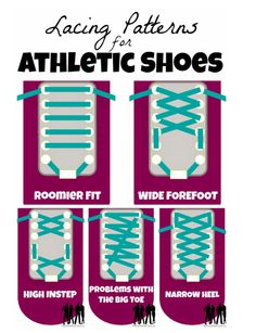 Different ways to lace your running shoes.