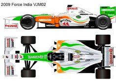 2009 Force India VJM02 formula 1 Sport Cars, Race Cars, Blueprint Drawing, Force India, Mclaren Mp4, Formula 1 Car, Car Illustration, Box Art, Racing