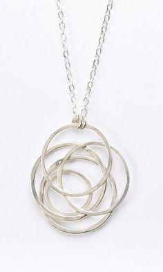 Handmade Silver Galaxy Circle Necklace