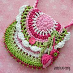 Crochet pattern purse Garden scene collection by VendulkaM, on Etsy Beau Crochet, Crochet For Kids, Free Crochet, Knit Crochet, Crochet Purse Patterns, Crochet Motifs, Knitting Patterns, Crochet Handbags, Crochet Purses