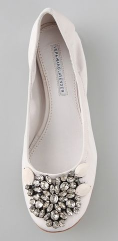 jeweled ballet flats from Vera Wang Lavender Label. pretty