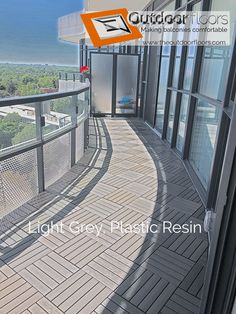 Balcony Flooring Installation Can Get Pretty Complicated Sometimes We Re Up To The Task Toronto Floor Covering With Our Light Grey Canadian Series