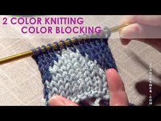 KNITFreedom - Fair-Isle Tutorial - How To Knit With 2 Colors - YouTube
