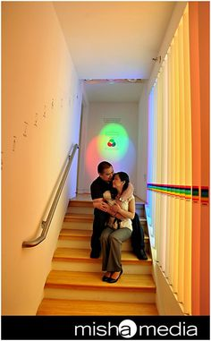This is our Color Temperature display, showing the different colors of light. How did they make it romantic? True love.