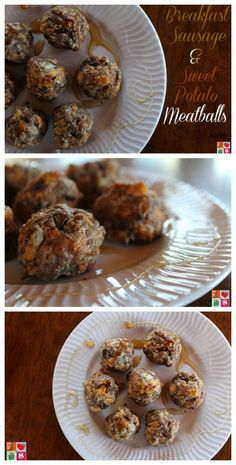 Breakfast Sausage & Sweet Potato Meatballs on Having Fun Saving.   This Breakfast Sausage and Sweet Potato Meatballs recipe is perfect to make the night before…it's even paleo!  Just pre-make your meatballs, place them on a baking sheet, cover, and then bake them when you wake up!
