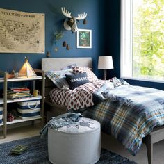 35 Amazingly Pretty Shabby Chic Bedroom Design and Decor Ideas - The Trending House Rustic Bedroom Design, Boys Bedroom Decor, Gray Bedroom, Bedroom Furniture, Kid Furniture, Teen Bedroom, Bedroom Designs, Furniture Design, Furniture Stores