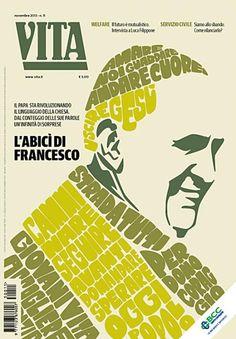 Vita magazine cover designed by Francesco Poroli