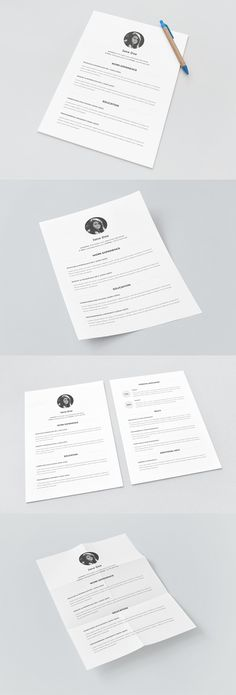 Free Resume Template | alienvalley.com | #free #photoshop #mockup