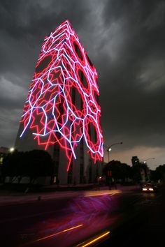 Traveling to Mexico - super photo Visiting Mexico City, Visit Mexico, Light Art Installation, Facade Lighting, México City, Largest Countries, Mexican Art, Mexico Travel, City Lights