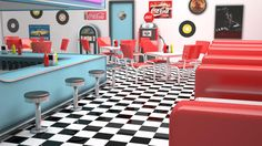 Like a Rock Like a Roll   Indira Cassano: Lanchonetes antigas & bacanas: 50's American Diner