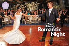 """Hilaria Baldwin looked stunning on her wedding day in Amsale's """"Porter"""" dress with actor Alec Baldwin"""