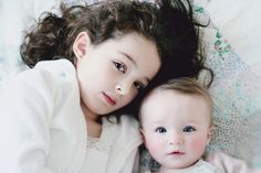 My girls via Flickr #girls #baby #photography #sisters