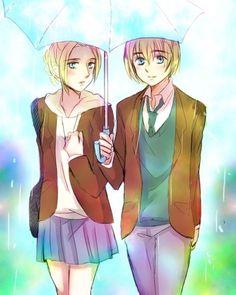 Armin and Annie - armin-x-annie Fan Art