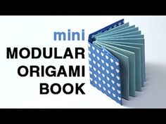 Modular mini origami book video tutorial - paperkawaii