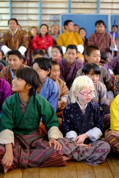 Beautiful Bhutanese children at the country's only school for the blind in Khaling