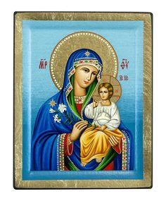 Virgin Mary - Eternal Bloom (Engraved icon - S Series) Saint Antony, Russian Icons, Byzantine Icons, Leaf Background, Client Gifts, Holy Mary, Flower Aesthetic, White Lilies, Jesus On The Cross