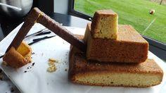 escavator cakes   How to make a 3D digger cake [Excavator cake]