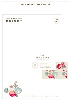Anna Bright Designs Logo design, branding and stationery designs