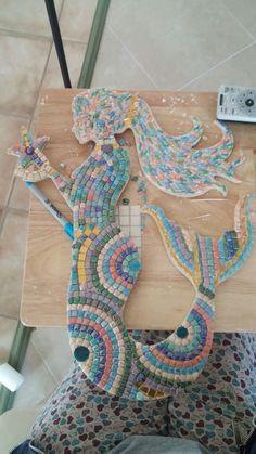 Just finished not grouted yet! Mosaic Art, Mosaics, Crochet Necklace, Lisa, It Is Finished, Jewelry, Jewlery, Jewerly, Schmuck