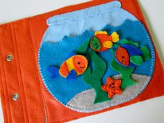 Fish+Bowl+Quiet+Book+Page+by+FreckledFelt+on+Etsy,+$14.00