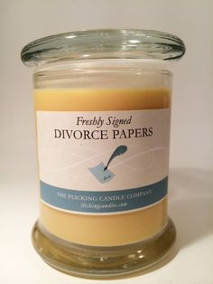 "Freshly Signed Divorce Papers | 9 Realistic Candle Scents You Really Need In Your Life One of several, including ""college rejection letter"" and ""the friend zone."""