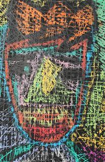 Woodstock School India Junior School Art Blog: Portraits--oil pastel and resist art: Grades 1 and 2