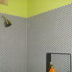 Moddotz gray penny rounds (though i'd use light gray grout)