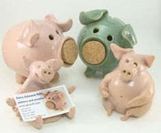 piggy banks and card holder by Gary Rith
