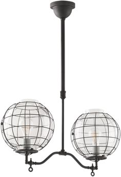 These are a 1905 - 1915 industrial pendant light, but they feel like old-school futuristic to me.  Another Craig Hoernschemyer suggestion.