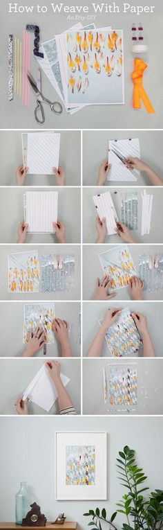 Create original art with this easy tutorial for paper weaving. #DIY