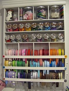 I have this same shelf and have the very same problem with the dowels that hold the ribbon - great easy fix for them!