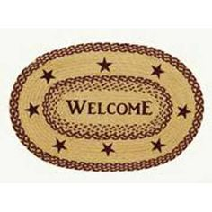 Burgundy Tan Jute 20x30 Oval Rug