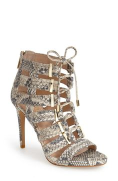 Vince Camuto 'Freshi' Snake Embossed Leather Sandal (Women) available at #Nordstrom