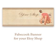 Etsy shop Facebook banner timeline Etsy toy shop banner Printable download Personalized Facebook banner made by FrezeArt