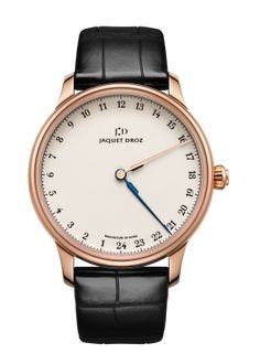 GRANDE HEURE GMT  Ivory Grand Feu enameled dial. 18-carat red gold case. Self-winding mechanical movement. Power reserve of 68 hours. Diameter 43 mm.