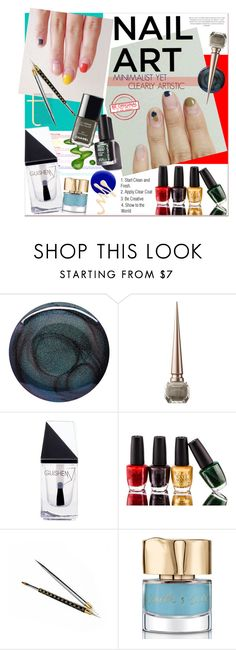 """Nail Art"" by watereverysunday ❤ liked on Polyvore featuring beauty, Deborah Lippmann, Christian Louboutin, GUiSHEM, OPI, Smith & Cult, Jin Soon, nails, nailart and beautyset"