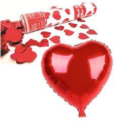 Decoração para o Dia das Mães especial com Lança Coração e Balão Coração Metalizado Vermelho