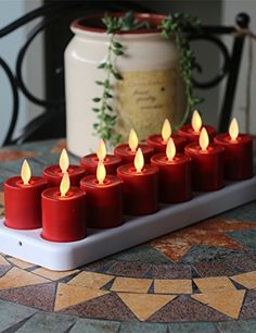Rechargeable Dancing Flame1525 INCH Mini Candle with Remote Control 12pack ** You can find out more details at the link of the image.