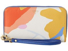 Fossil Sydney Zip Phone Wallet Light Floral - Zappos.com Free Shipping BOTH Ways