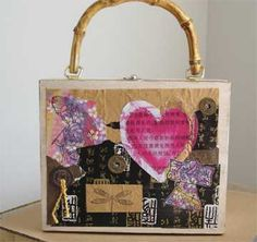 cigar box purse with an Asian theme