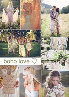 boho wedding inspiration board #boho #wedding #inspirationboard created on www.sampleboard.com