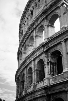 Rome Coliseum. Black and White.
