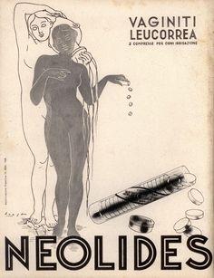 Pubblicità originale Anni 30 Farmaceutica NEOLIDES advert reklame pubblicitè