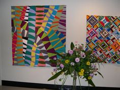 2011 Art Quilts at Whistler House Museum: (left) Symbiotic Entanglement I by Valerie Maser-Flanagan, Floral by Mark Caputo