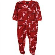 Alabama Crimson Tide Infant Spirited Fleece Footed Sleeper - Crimson