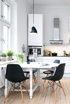 Via NordicDays.nl | White Alvhem Home | Kitchen | Eames